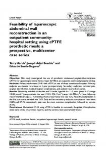 Feasibility of laparoscopic abdominal wall ... - SAGE Journals