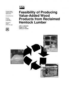 Feasibility of Producing Value-Added Wood Products from Reclaimed ...