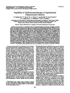 Feasibility of Radioimmunotherapy of Experimental Pneumococcal ...