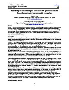 Feasibility of residential grid connected PV system under the ...