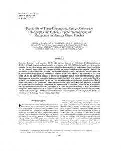 Feasibility of Three-Dimensional Optical Coherence ... - UCI