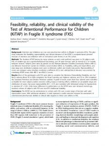 Feasibility, reliability, and clinical validity of the Test of ... - BioMedSearch