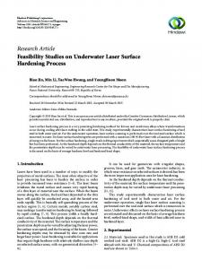 Feasibility Studies on Underwater Laser Surface Hardening Process