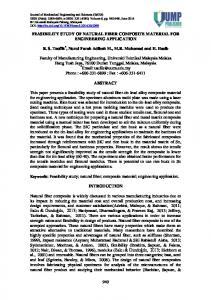 feasibility study of natural fiber composite material for engineering ...