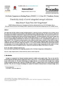 Feasibility study of novel integrated aerogel ... - ScienceDirect.com