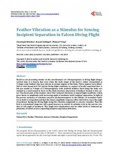 Feather Vibration as a Stimulus for Sensing Incipient Separation in ...