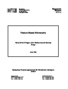 Feature Based Allomorphy