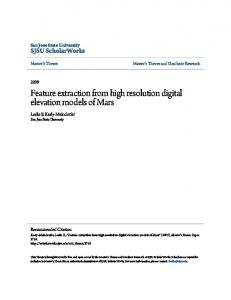 Feature extraction from high resolution digital elevation models of ...