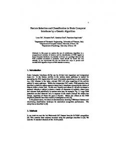 Feature Selection and Classification in Brain Computer Interfaces by a ...