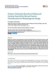 Feature Selection Based on Enhanced Cuckoo Search for Breast ...