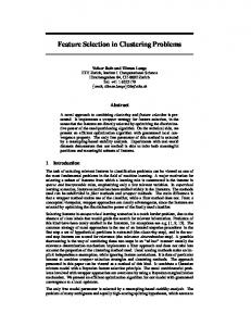 Feature Selection in Clustering Problems