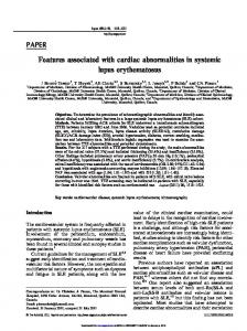 Features associated with cardiac abnormalities in ... - McGill University