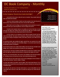 Feb. 2013 Newsletter - Truck Stops and Services
