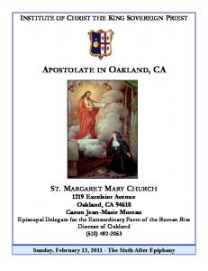 February 13, 2011 - Institute of Christ the King Sovereign Priest