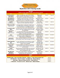 February 2014 Viewing Guide - Comcast