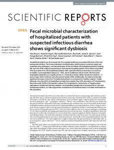 Fecal microbial characterization of hospitalized patients with ...