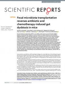 Fecal microbiota transplantation reverses antibiotic