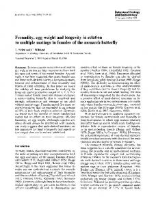 Fecundity, egg weight and longevity in relation to ... - Springer Link