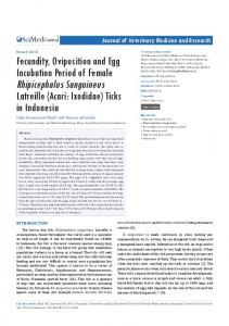 Fecundity, Oviposition and Egg Incubation Period of ... - JSciMed Central