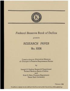 Federal Reserve Bank of Dallas RESEARCH PAPER