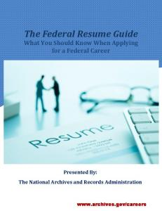 Federal Resume Guide