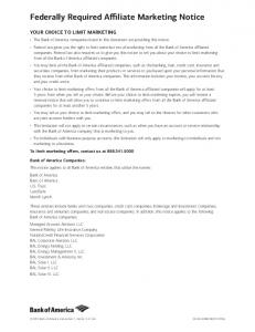 Federally Required Affiliate Marketing Notice - Merrill Lynch