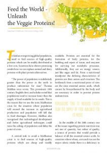 Feed the World - Unleash the Veggie Proteins!