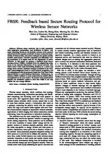Feedback based Secure Routing Protocol for ... - Semantic Scholar