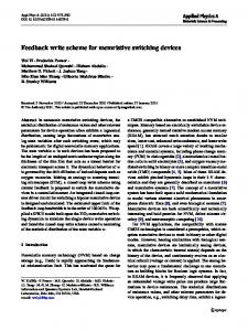 Feedback write scheme for memristive switching devices - Core