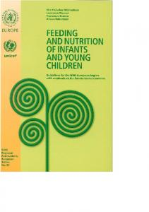 Feeding and nutrition of infants and young children - WHO/Europe