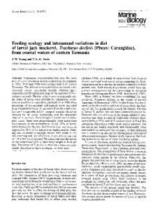 Feeding ecology and interannual variations in diet of ... - Springer Link