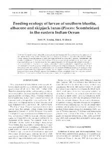 Feeding ecology of larvae of southern bluefin ... - Inter Research