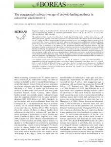 feeding molluscs in calcareous environments - Wiley Online Library