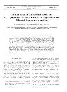 Feeding rates of Calanoides carinatus - Inter Research