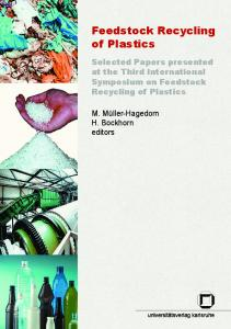 Feedstock Recycling of Plastics