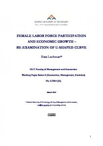 Female labor force participation and economic growth - FTP Directory ...