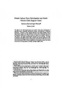 Female Labour Force Participation and South Africa's Child Support ...