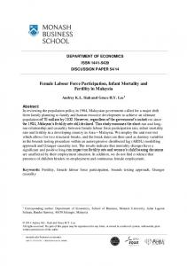 Female Labour Force Participation, Infant Mortality and Fertility in ...