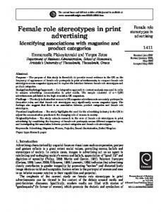 Female role stereotypes in print advertising