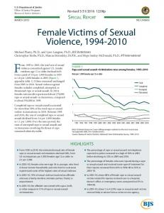 Female Victims of Sexual Violence, 1994-2010