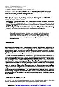 Femtosecond Electron Diffraction Study of the Cyclization Reaction in ...