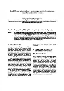 FendOff encryption software to secure personal information on ... - arXiv