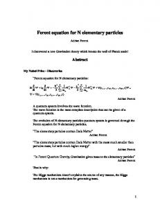 Ferent equation for N elementary particles - viXra