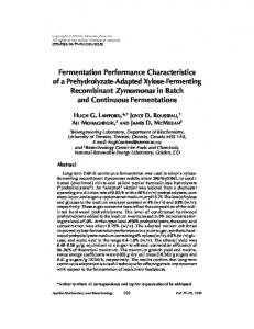Fermentation performance characteristics of a ... - Springer Link