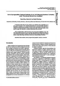 Ferric hydrogensulfate catalyzed synthesis of aryl 14H-dibenzo [a, j ...