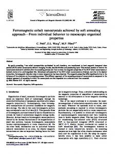 Ferromagnetic cobalt nanocrystals achieved by soft annealing ...