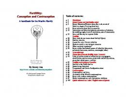 Fertilility: Conception and Contraception - The Islamic Bulletin