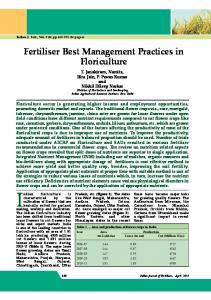 Fertiliser Best Management Practices in Floriculture