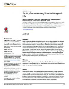Fertility Desires among Women Living with HIV