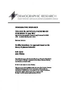 Fertility intentions - Demographic Research